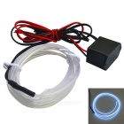 Glowing Strobing Electroluminescent El Wire Cold White Light 450nm Neon Light for Car Decoration
