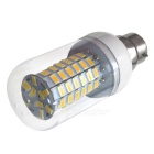 HONSCO B22 6W 69-5730 SMD LED Corn Light Bulb Warm White -Transparent