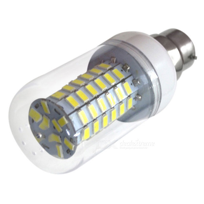 HONSCO B22 6W 69-5730 SMD LED Corn Light Bulb Cold White -TransparentOther Connector Bulbs<br>Color BINCool WhiteMaterialPCB + PVCForm  ColorWhite + SilverQuantity1 DX.PCM.Model.AttributeModel.UnitPower6WRated VoltageAC 85-265 DX.PCM.Model.AttributeModel.UnitConnector TypeB22Chip BrandOthers,SananChip Type5730Emitter TypeLEDTotal Emitters69Theoretical Lumens700 DX.PCM.Model.AttributeModel.UnitActual Lumens600 DX.PCM.Model.AttributeModel.UnitColor Temperature6500KDimmableNoBeam Angle360 DX.PCM.Model.AttributeModel.UnitCertificationCE, RoHSPacking List1 * LED light<br>