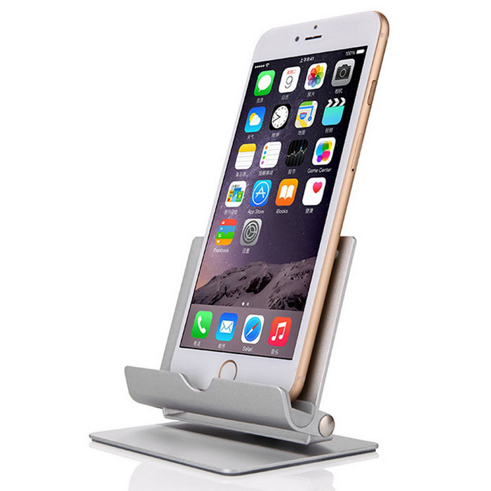 360 Degree Rotary Flexible Stand for Mobile Phone / Tablet - Silver