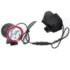 SKY RAY Bike Front Light & Headlamp + Taillight w/ Head Band - Red