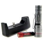 Exploration Camping Riding Climbing Daily Flashlight 289lm 3-Mode w/ US Plugs Charger Set (1 * 14500)