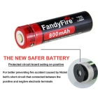 FandyFire Outdoor Sports XR-E R2 LED Flashlight Cold White - Black