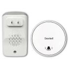 Auto-Alimentado AC85 ~ 265V Wireless Remote Plug-in campainha-Branco + Cinza