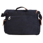 KAUKKO FG235 11L Multipurpose Canvas Leather Messenger Bag - Black