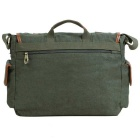 KAUKKO FG235 11L Multipurpose Canvas Leather Messenger Bag -Army Green