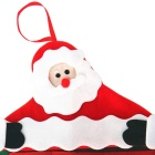 Christmas Decoration Santa Claus Hanging Calendar - Red