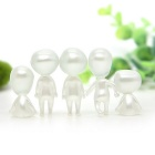 Cute Kodama Style Luminous Tree Gardening Pots Decorative Dolls (5PCS)