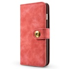 Cwxuan Magnetic Detachable PU Wallet Case for IPHONE 7 PLUS - Pink