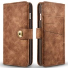 Retro Split Leather Flip-Open Wallet Case for IPHONE 7 PLUS - Coffee
