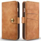 Retro Split Leather Flip-Open Wallet Case for IPHONE 7 PLUS - Brown