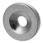 15 * 3mm Strong Round Hole NdFeB Magnets - Silver (5 PCS)