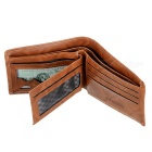 Ultra Slim Folding PU Leather Men's Wallet - Dark Coffee