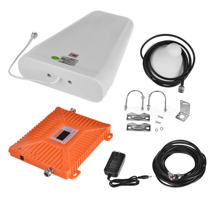 GSM / 2G 3G 4G Mobile Phone Signal Booster - Orange (US Plugs)