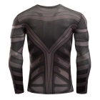 3D Printing Fast-Drying Long-Sleeved Tight-Fitting Male T-shirt (XXL)