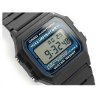 CASIO F-105W-1ADF Men's Wrist Watch - Black + Blue (Without Box)