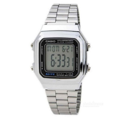 Casio A178WA-1A Silver Stainless Steel Quartz Watch (Without Box)