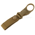 Outdoor Sports Backpack Water Buckle Holder Buckle Camping Kettle Pocket Clip - Khaki