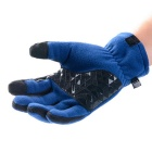 NatureHike Touch Screen Full-Finger Fleece Gloves - Blue (Pair / XL)