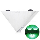 YouOKLight YK2228 3-LED 3W Triangle Decorative Wall Lamp Green Light