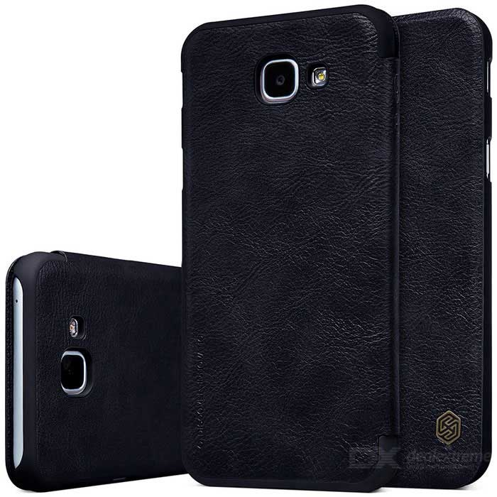 NILLKIN QIN Series Protective PU + PC Case for Samsung A8 2016 - Black