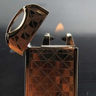 Maikou USB Charging Electronic Cigarette Lighter - Grid Gold