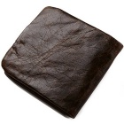 GUBINTU Men's Top Leather Cards Holder Hasp Wallet Purse - Brown