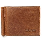 Men's Multifunctional Retro Genuine Leather Card Holder Money Cash Clip Mini Wallet