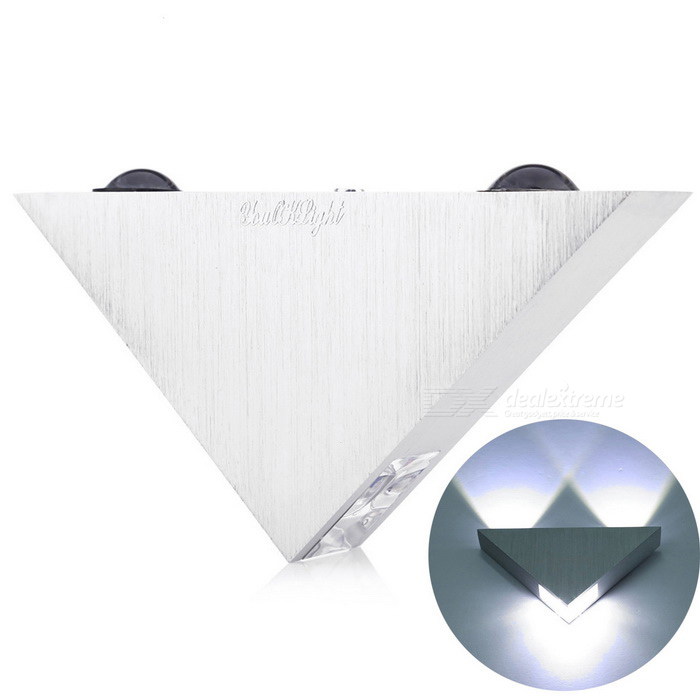 YouOKLight YK2228 3-LED 3W 240lm Triangle Wall Lamp Cool White Light