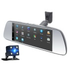 JUNSUN K713 Full HD 1080P quad-core doble lente espejo retrovisor DVR coche