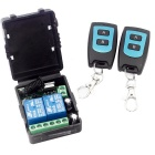 DC 12V 10A 2-CH Wireless R/C Switch Receiver Module + Remote Controls