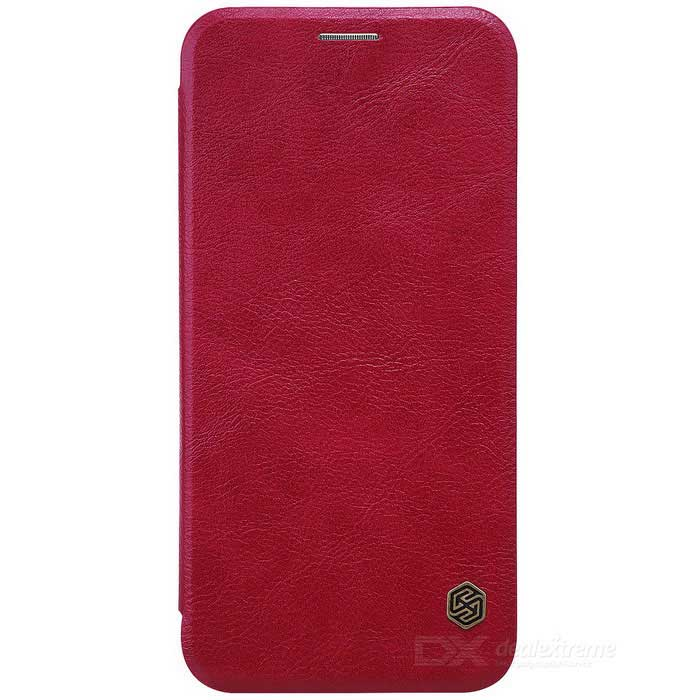 NILLKIN QIN Series Protective PU + PC Case for Samsung A8 2016 - Red