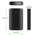 A5 QC3.0 12500mAh High Capacity Portable Quick Charger - Black