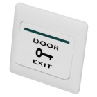 DC 36V 3A Fireproof Resin Exit Button for Door Access Control - White