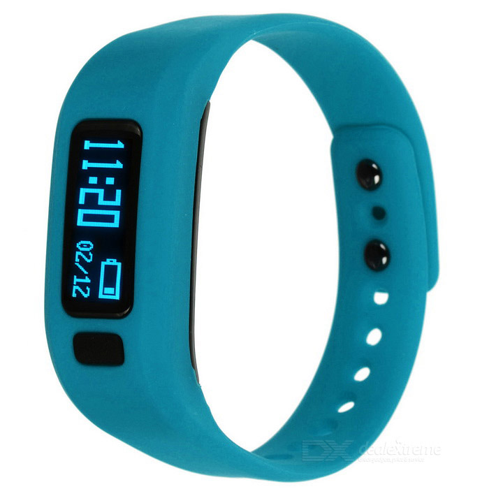 "KICCY UP2 0.91"" OLED TPU Silicona Smart Bluetooth Wristband - Azul"