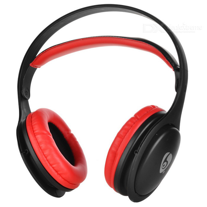 OVLENG MX555 Wireless Bluetooth Super Bass Headphone - Black + Red