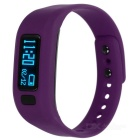 "KICCY UP2 0,91"" OLED TPU Silicone Smart Wristband Bluetooth - Roxo"