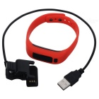 "KICCY UP2 0.91"" OLED TPU Silicone Smart Bluetooth Wristband - Red"