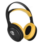 OVLENG MX555 Bluetooth sem fio Super Bass Headphone - Preto + Amarelo