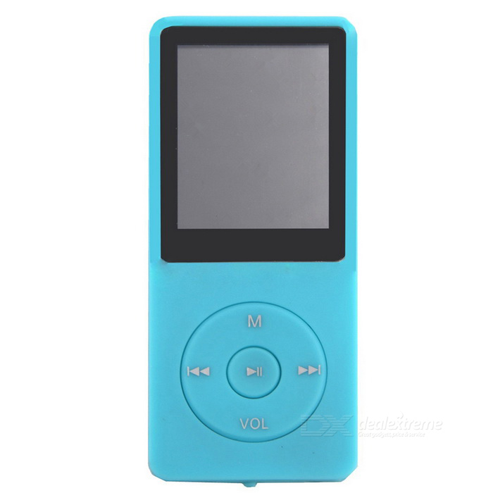 "1.8"" LCD música digital MP4 MP3 player com rádio FM - azul (8GB)"
