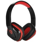 OVLENG MX222 Wireless Bluetooth Subwoofer Headphone - Black + Red