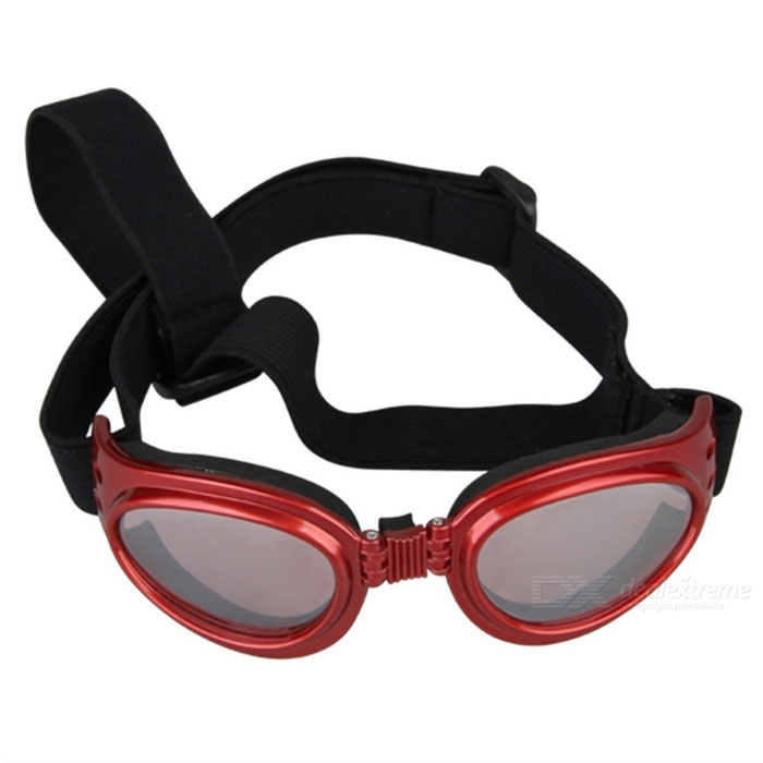 Pet Puppy Dog UV Protection PC Goggles Sunglasses Eyewear - Red