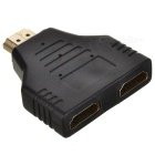 Cwxuan HDMI Male to 2 HDMI Female Adapter / Converter - Black