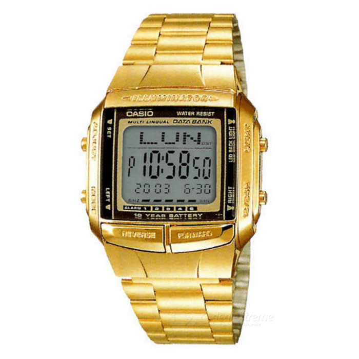 Casio DB360G-9A Digital E-Data Bank Watch - Gold + Black (Without Box)