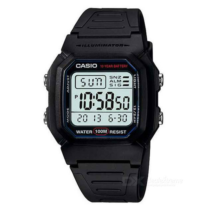 Casio W-800H-1AVDF Men's Digital Watch - Black (Without Box)