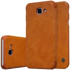NILLKIN QIN Series Protective PU + PC Case for Samsung A8 2016 - Brown