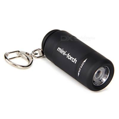 Ultrafire Creative USB Rechargeable Plastic LED Flashlight - Black