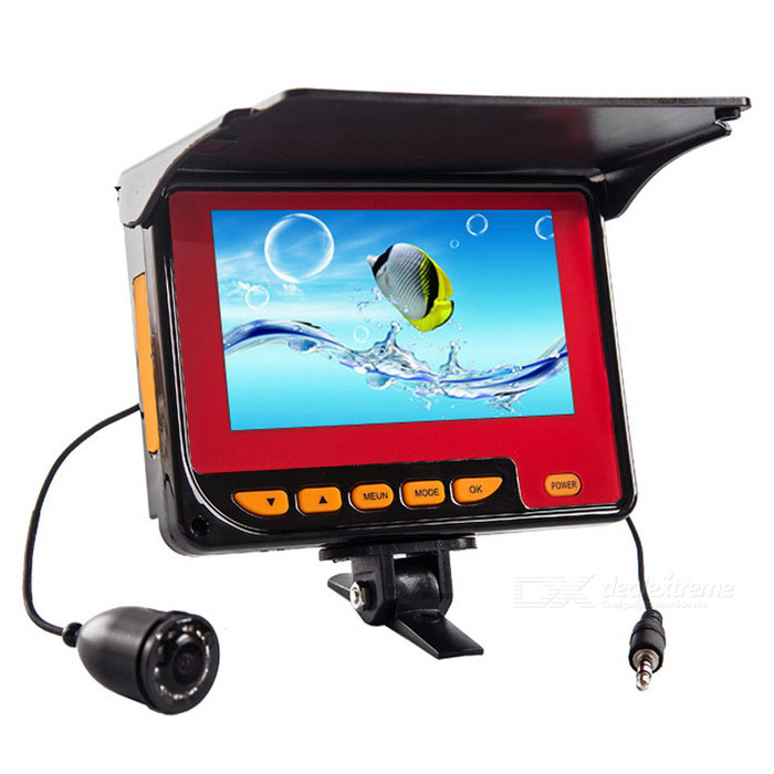 4.3 1,000TVL Wide Angle Camera Fish Finder w/ 10-IR LED - Black + RedForm ColorBlack + RedQuantity1 DX.PCM.Model.AttributeModel.UnitMaterialAluminium alloyPacking List1 * 4.3 inch LCD monitor1 * Camera1 * Charger1 * Monitor fixed bracket1 * Center ring1 * Hook1 * Rope1 * Fixed ring1 * User manual<br>