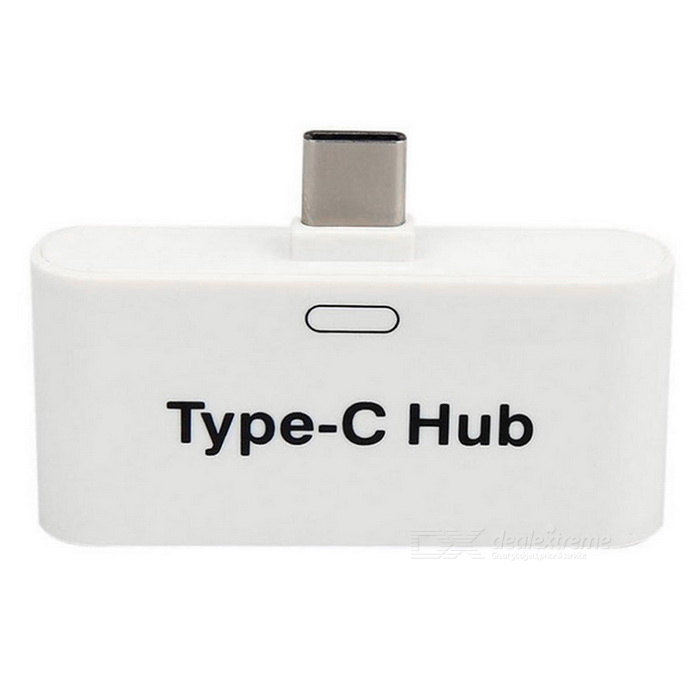 BSTUO USB 3.1 Type-C to Dual USB + Micro USB OTG Hub Adapter - White