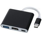 BSTUO Type-C USB 3.1 to USB3.0 / HDMI / Type-C Charger Adapter - Black